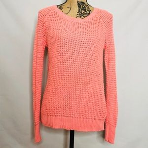 AMERICAN EAGLE OUTFITTERS pink knit sweater XS